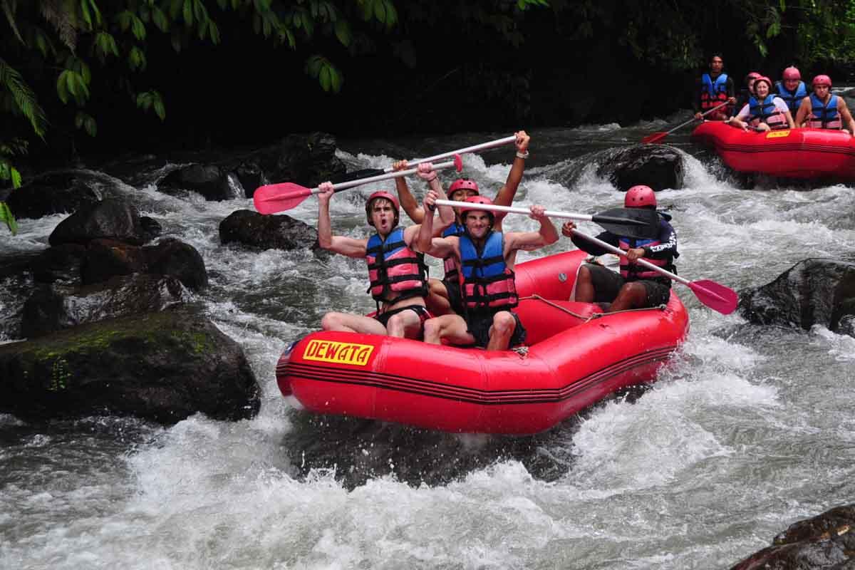 BOOK ONE DAY BEFORE!!!Pick Up (Ubud, Sanur, Kuta, Nusa Dua, Jimbaran, Canggu)Min 2 PaxTelaga Waja White Water Rafting is an adventure experience offered by Te Dew Rafting Tours. Besides the fun, rafti