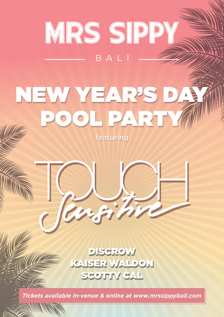 Start 2020 with the sultry synth-pop and disco sounds of TOUCH SENSITIVE(Date 1 January 2020)  Kick off the New Year with the signature nostalgia-tinged disco-house of Australian vibe maker Touc