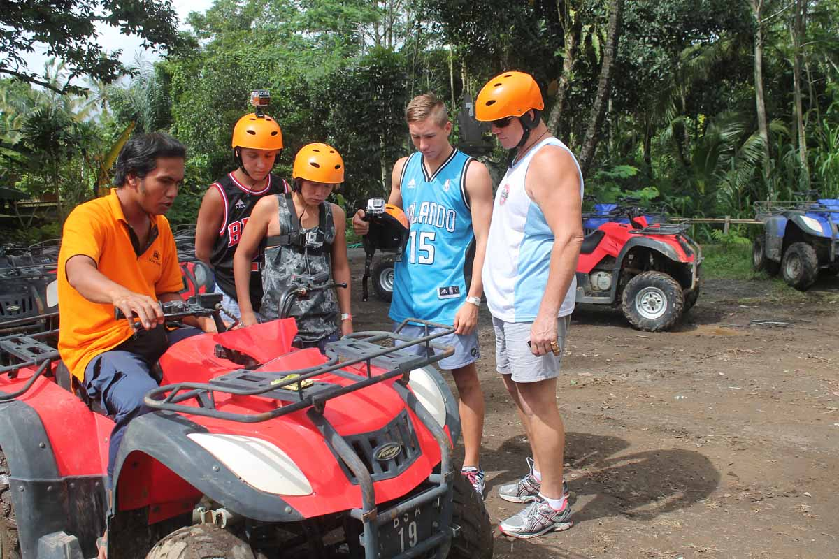 ATV ( Tandem )SUR ADVENTURE introduces to you Bali at its rustic natural best. BACK TO NATURE AND LET'S HAVE FUN is our motto - to stimulate and to encourage everyone to appreciate nature. BAL S