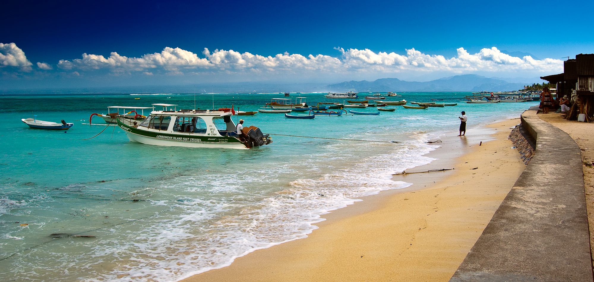 Lying across the Badung Strait from Sanur is Bali's premiere scuba diving destination - the clear wa