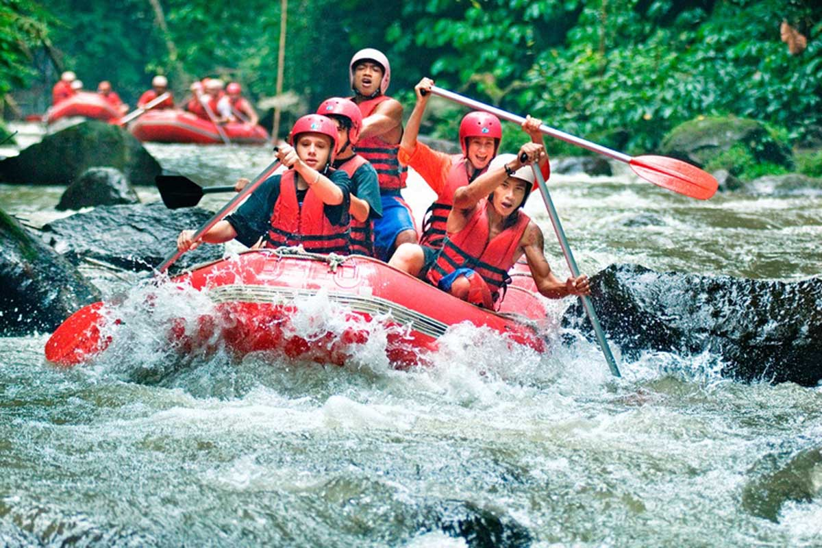 There are a number of rafting options in Bali and while the rapids are far from Amazonian in their