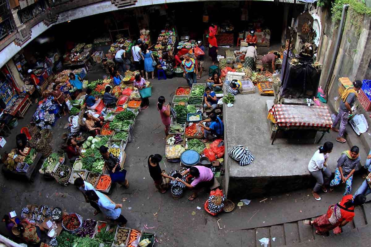 This two-story market situated across from the Ubud Palace and smack dab in the middle of town is a