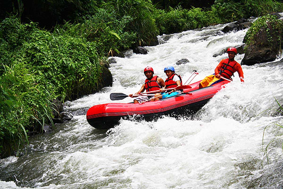 Running from the southern slope of Mount Abang, the second longest river in Bali translates roug
