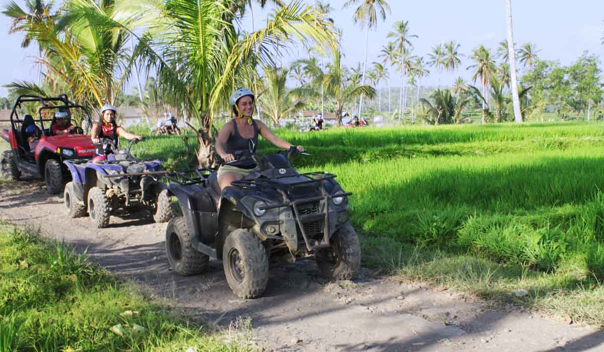 Book One Day Before !!!Pick Up (Ubud, Sanur, Kuta, Nusa Dua/Jimbaran)Min 2 Pax  Start your day with an Adventurous ATV or Buggie ride The Bali Quad and Bali buggy tours bring you to a part of Bali whe