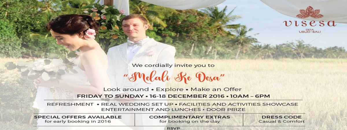 "INVITATION ""Melali Ke Desa"" at Royal Tulip Visesa, Friday to Sunday 16 - 18 December 2016"