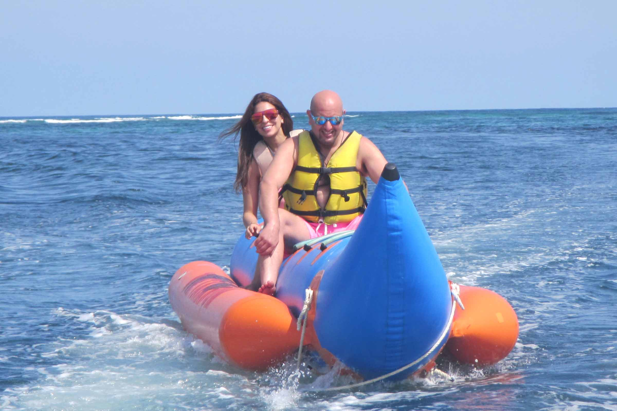 BOOK ONE DAY BEFORE !!!Min - 2 fax (15 Minutes)BANANA BOAT  Banana boat is an inflatable recreational boat meant for towing by speed boat.  Different models usually accommodate three to ten rides si