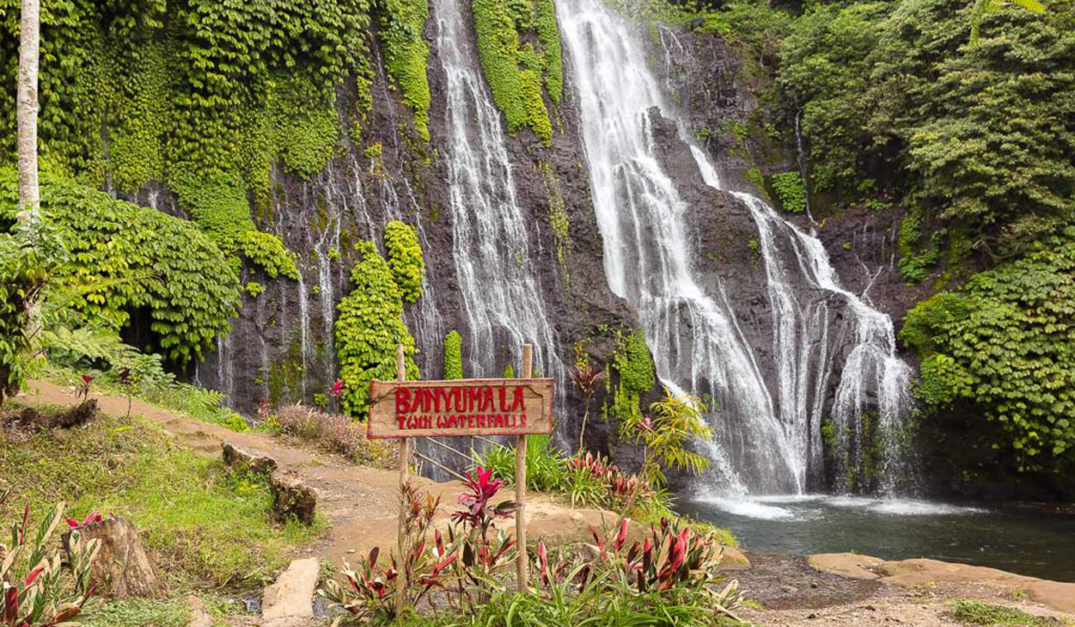 Banyumala Twin WaterfallBanyumala Twin Waterfall is one of the lesser known waterfalls in Bali. Unli