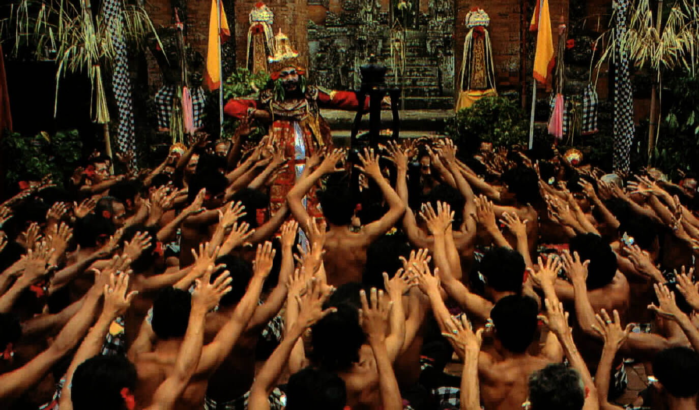 Group : Semara MadyaDay : Thursday / Time : 07.30 pm / Venue : Puri Agung PeliatanProgram :    Kecak (Monkey Chant Dance)  A mesmerizing theatrical experience, the Kecak is essentially a choir dance p
