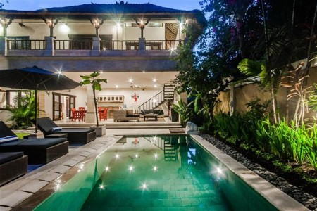 Villa Nakula is located at the heart of bustling Seminyak, in  Jalan Kayu Aya, which is known locall