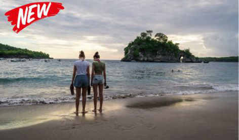 BOOK ONE DAY BEFORE  MIN 4 PAX  Penida has many popular tourist destinations. Three of them are Broken Beach, Angel Billabong, and Kelingking Beach. It will take 45 minutes cruising from Mertasari to