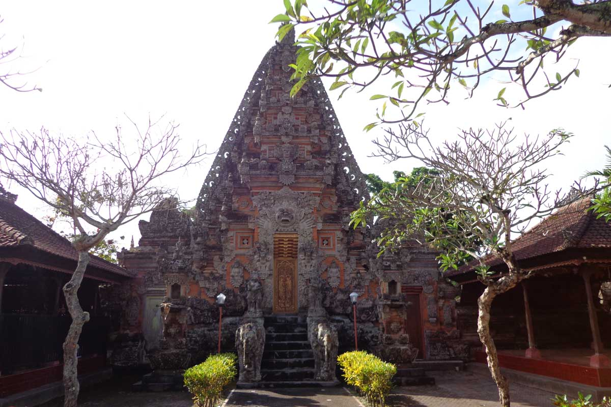 Situated in Mas on the site of the original home of the Javanese sage Danghyang Nirartha, this is th