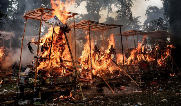 Ngaben, or Cremation Ceremony, is a funeral ritual performed in Bali to send the deceased to the n
