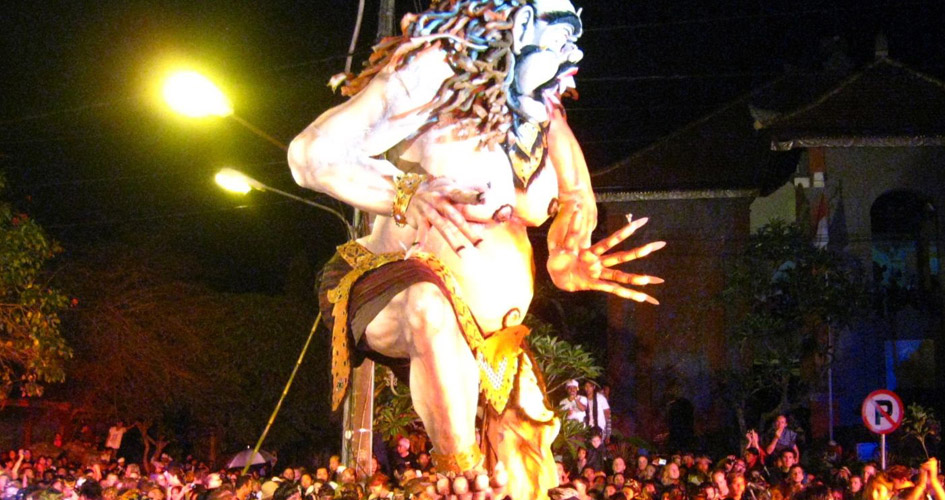 The Balinese Saka year (lunar new year) celebrated in March or April – Nyepi is the traditiona