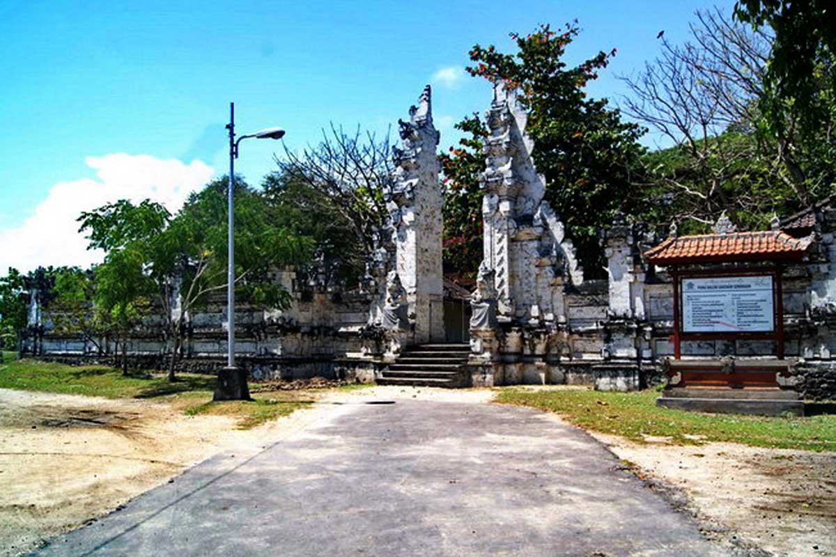 Located on the southwestern shore of Serangan Island, the original limestone and coral structure was