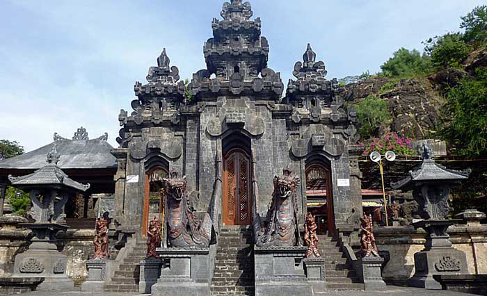 Another one of Bali's important nine directional temples, this dramatic pura carved out of the