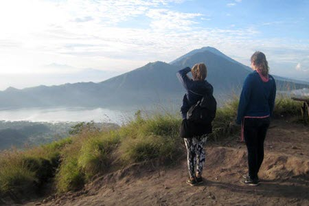 BOOK ONE DAY BEFORE !!!Pick Up Ubud AreaTrekkingMount Batur Volcano is located in Kintamani, it is situated 1717metres above sea level. The Volcano was last active in the year 2000. It is Balinese bel