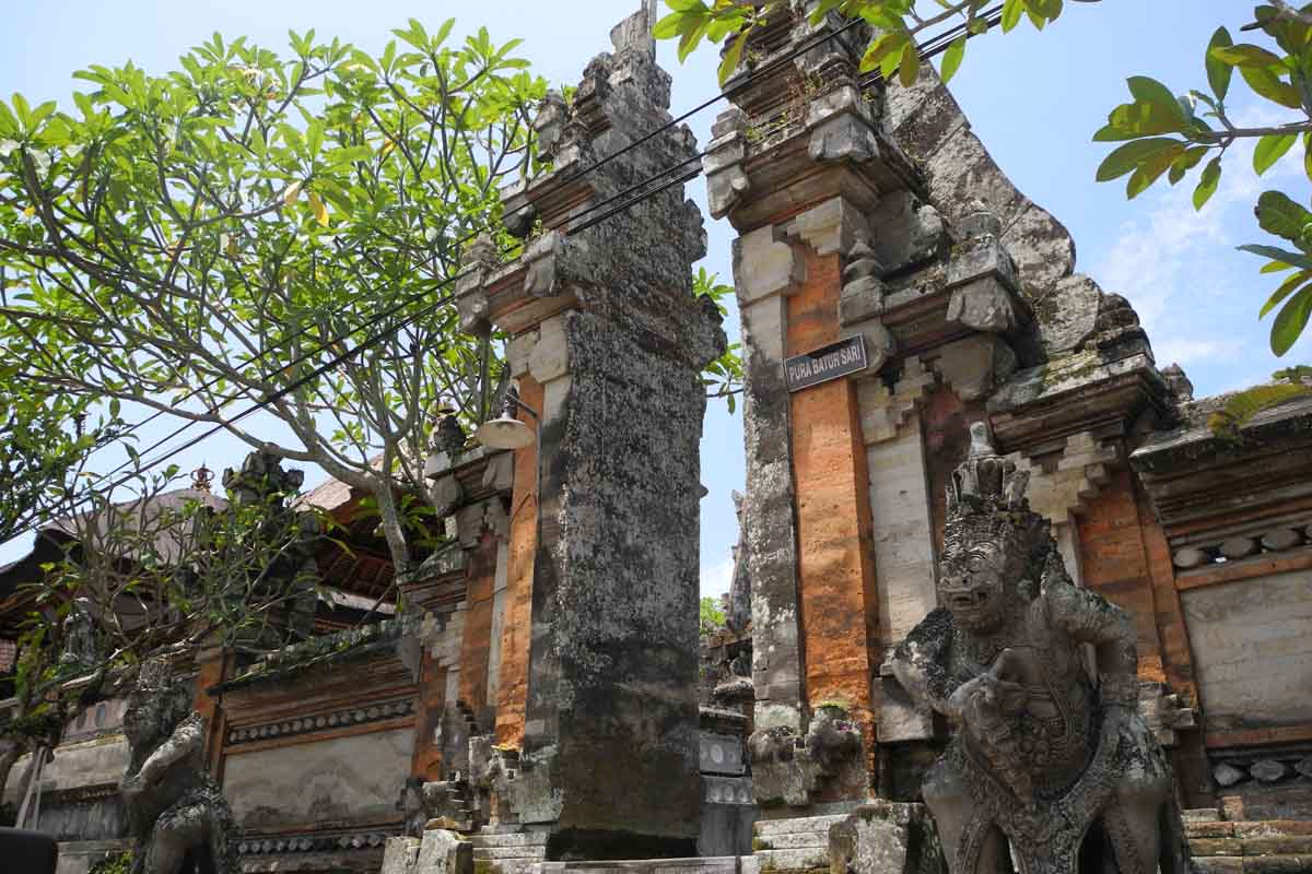 This Ubud royal temple is more specifically a penyawang temple, one specifically dedicated to the