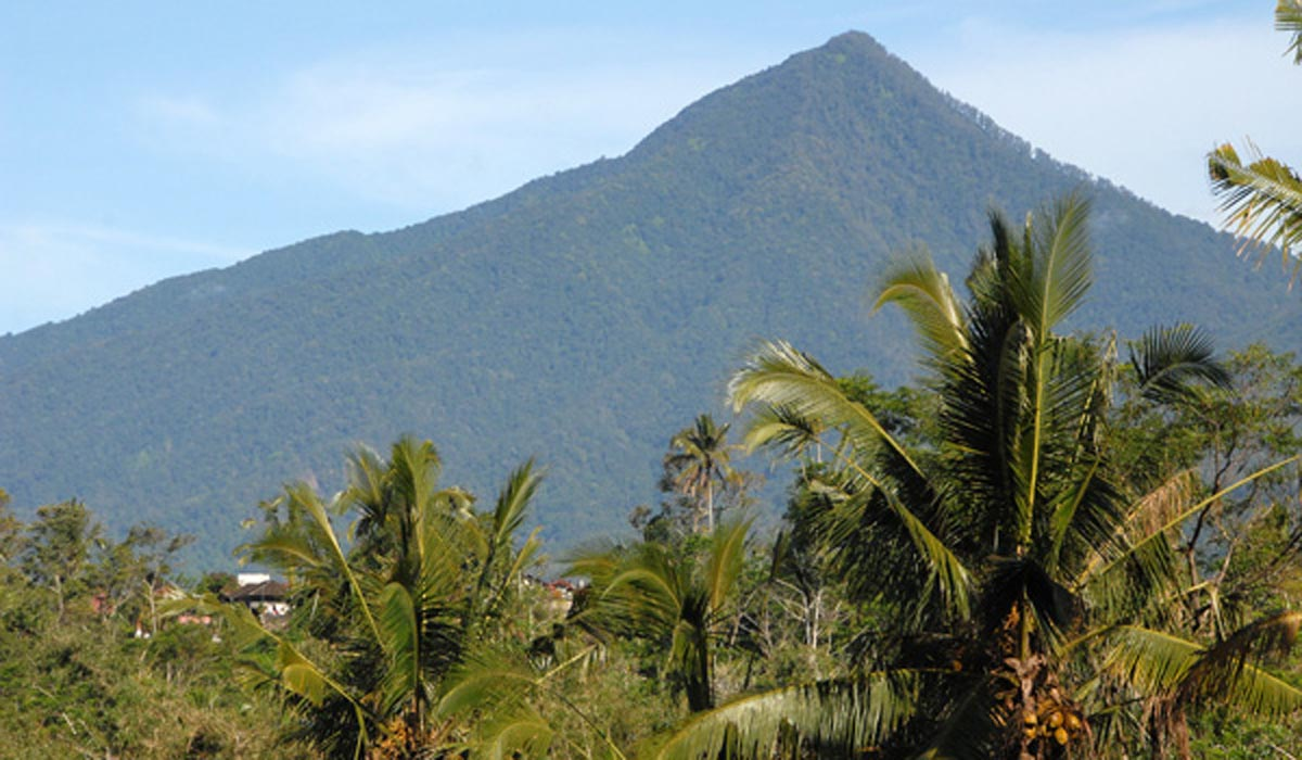 Gunung Batukaru (meaning Coconut Shell Rock) situated in Bali's Tabanan Regency is rightly tou